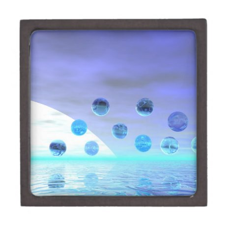 Moonlight Wonder, Abstract Journey to the Unknown Jewelry Box