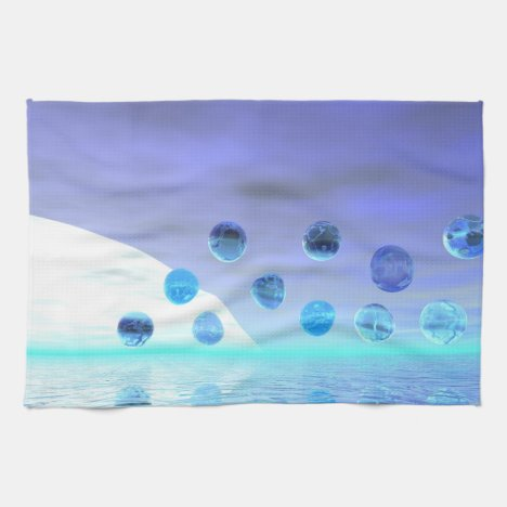 Moonlight Wonder, Abstract Journey to the Unknown Kitchen Towel