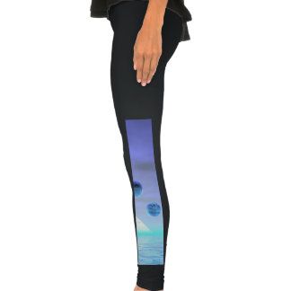 Moonlight Wonder, Abstract Journey to the Unknown Legging Tights