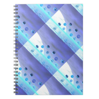 Moonlight Wonder, Abstract Journey to the Unknown Spiral Notebooks