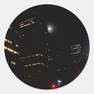 """Moonlighting New York City""  CricketDiane Art and Classic Round Sticker"