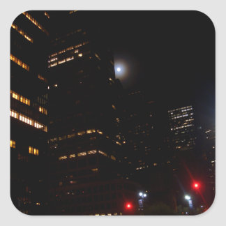 """Moonlighting New York City""  CricketDiane Art and Square Sticker"