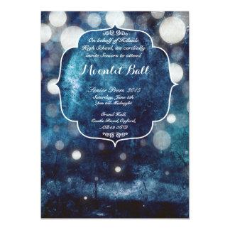 "Moonlit Ball Custom Invite 5"" X 7"" Invitation Card"