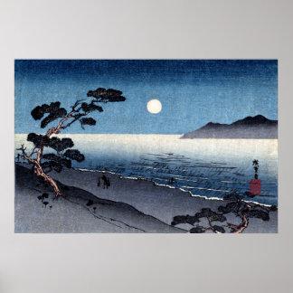 Moonlit Beach in Japan no.2 Poster