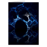 Moonlit Blue Cave Mouth, Fractal Art. Greeting Card