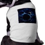 Moonlit Blue Cave Mouth, Fractal Art. Pet Tshirt