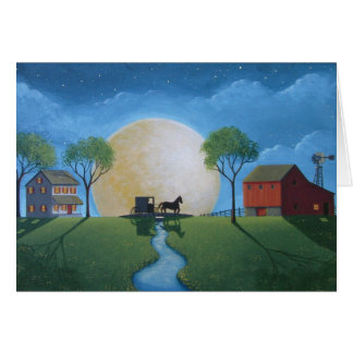 Moonlit Buggy Ride Card
