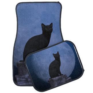 Moonlit Cat Car Floor Mat