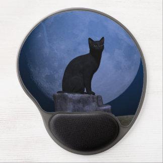 Moonlit Cat Gel Mouse Pads
