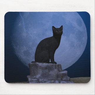Moonlit Cat Mouse Pad