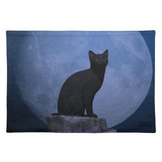 Moonlit Cat Placemat