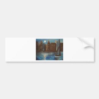 Moonlit City Bumper Sticker