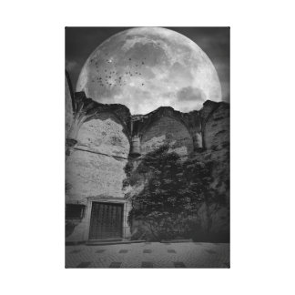 """Moonlit Courtyard"" Canvas Photography Print"