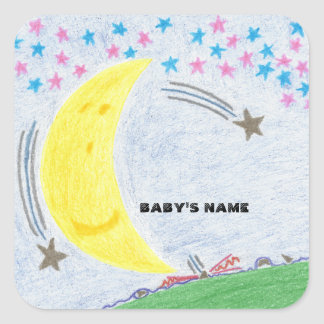 Moonlit Dreams Baby Shower or New Baby Stickers