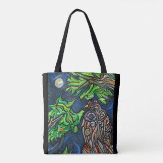 Moonlit Eagle Tote Bag