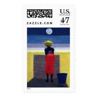 Moonlit Evening 2001 Postage Stamp