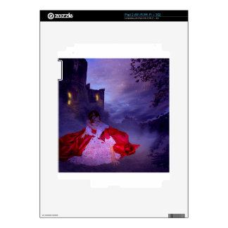 MOONLIT EVENING ~ OUTSIDE THE CASTLE WALLS iPad 2 DECAL