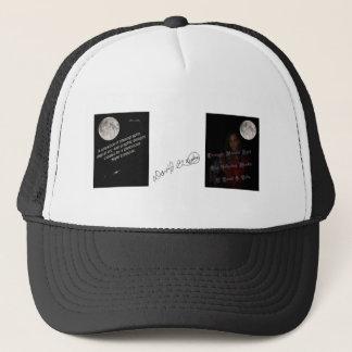 moonlit eyes cover art trucker hat