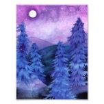 Moonlit Forest - Landscape Art Print Photographic Print