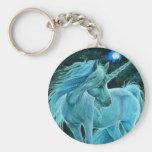 Moonlit Glade ~ Unicorn Keyring Basic Round Button Keychain