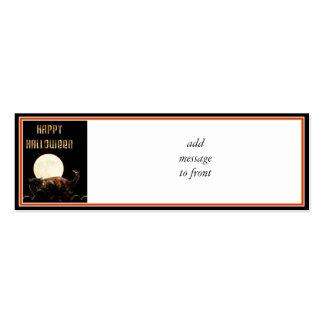 Moonlit Halloween Cat Business Card Template