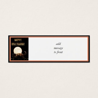 Moonlit Halloween Cat Mini Business Card