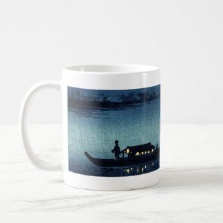 Moonlit Japanese Riverboat Coffee Mug
