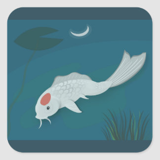 Moonlit Koi Vector Art Stickers