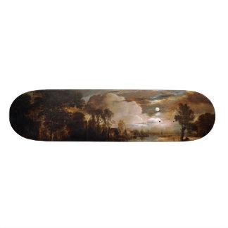 Moonlit Landscape by Aert Van Der Neer (1647) Skateboard Deck