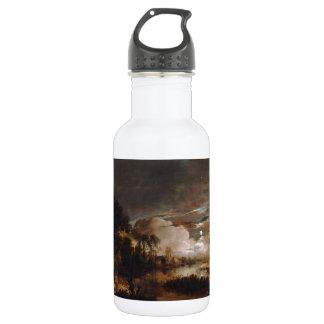Moonlit Landscape by Aert Van Der Neer (1647) Water Bottle