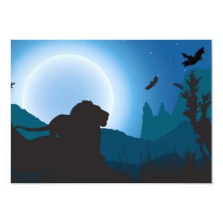 Moonlit Lion Card