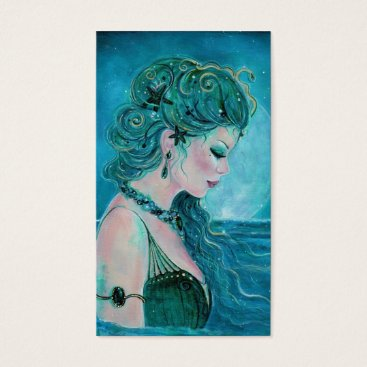 Professional Business Moonlit Mermaid business cards By Renee Lavoie