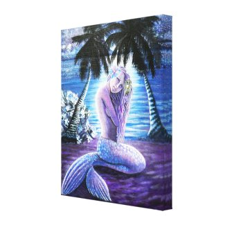 Moonlit Mermaid Canvas Print