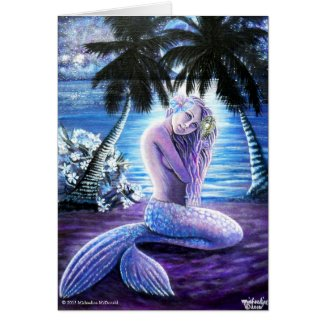 Moonlit Mermaid Card