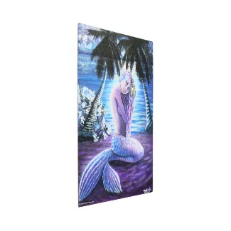 Moonlit Mermaid Metal Print