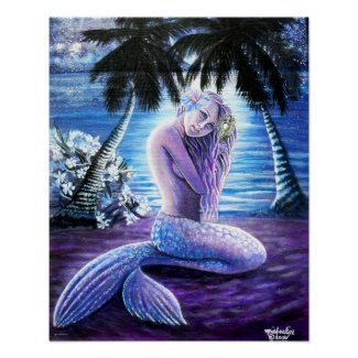 Moonlit Mermaid Poster
