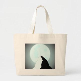 Moonlit Mountain Large Tote Bag