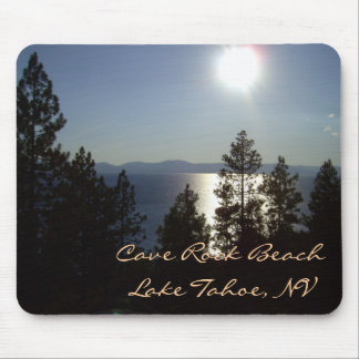 "Moonlit Mousepad ""CAVE ROCK"" Lake Tahoe"