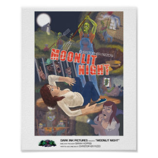 Moonlit Night: 8x10 mini-poster