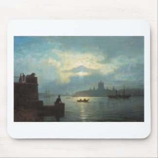 Moonlit night at Neva by Lev Lagorio Mouse Pad