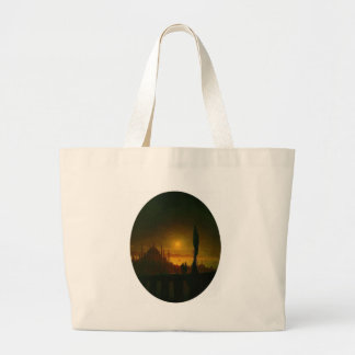 Moonlit night beside the sea by Ivan Aivazovsky Large Tote Bag