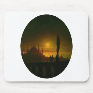 Moonlit night beside the sea by Ivan Aivazovsky Mouse Pad