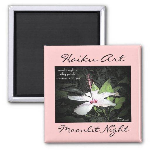 Moonlit Night Haiku Art Magnet