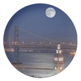 Moonlit Night in San Francisco Plate