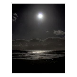 Moonlit night postcard