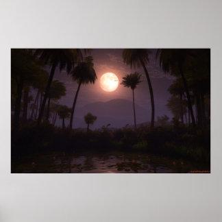 Moonlit Oasis 2012 Print
