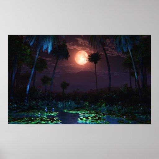 Moonlit Oasis (Illume) Posters