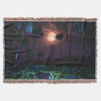 Moonlit Oasis Throw Blanket