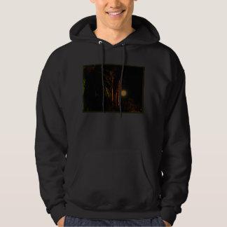 Moonlit palm trees hoodie