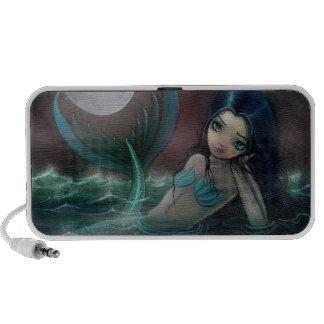 Moonlit River Mermaid Doodle Speaker
